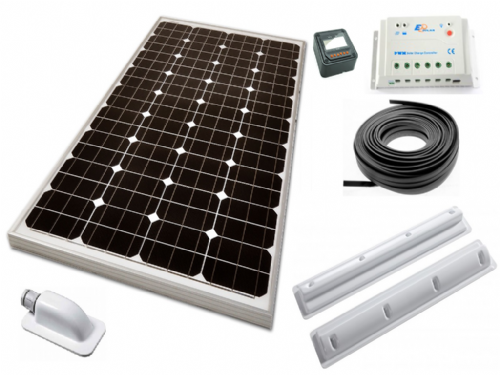 Motorhome Solar Panel Kit 100W 12V (Caravan Energy Power Charger Monocrystalline)